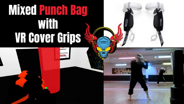 VR Cover Oculus Quest Controller Griffe mit Mixed Punch Bag